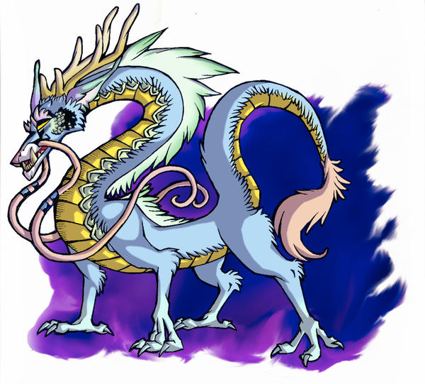 Asian Dragon colored by SabreBash