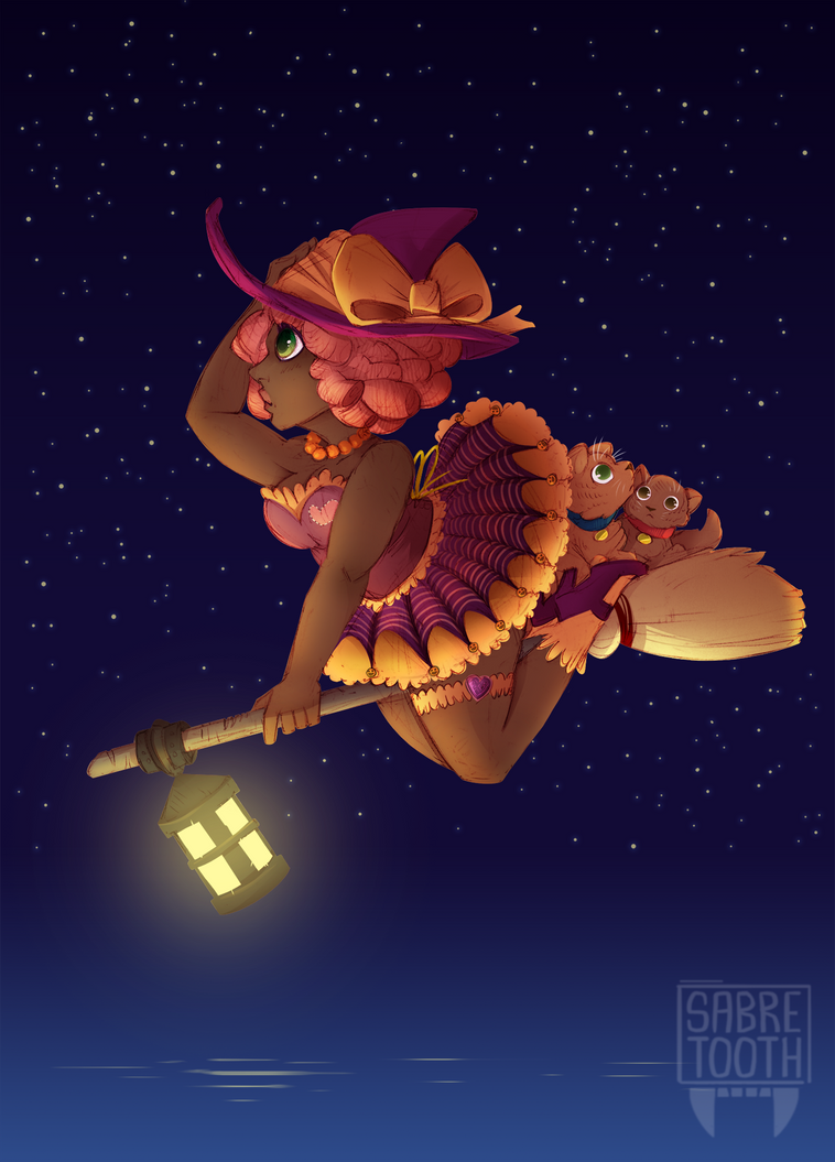 Cute Witch by sabretoothlioness
