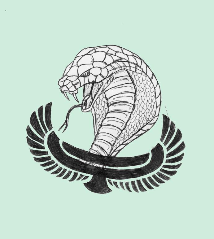 Egyptian Cobra Drawing Egyptian Cobra Tat