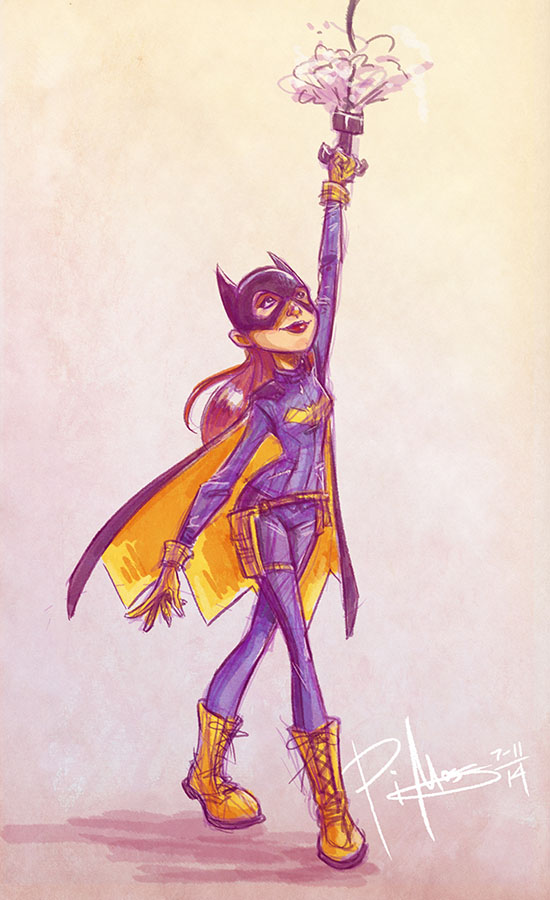 Batgirl (Sketch Dailies) by patrickianmoss