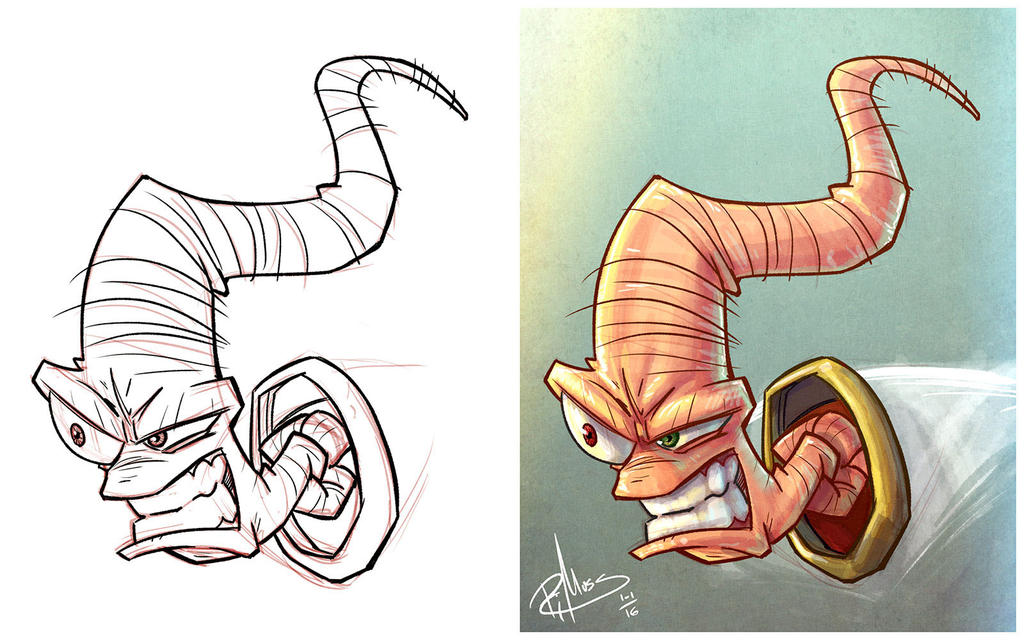 Earthworm Jim - Side by Side by patrickianmoss