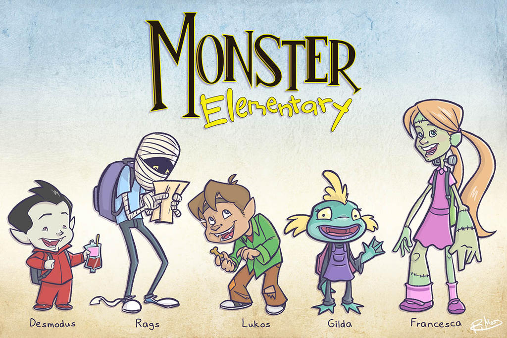The Monster Elementary Gang Lineup by patrickianmoss