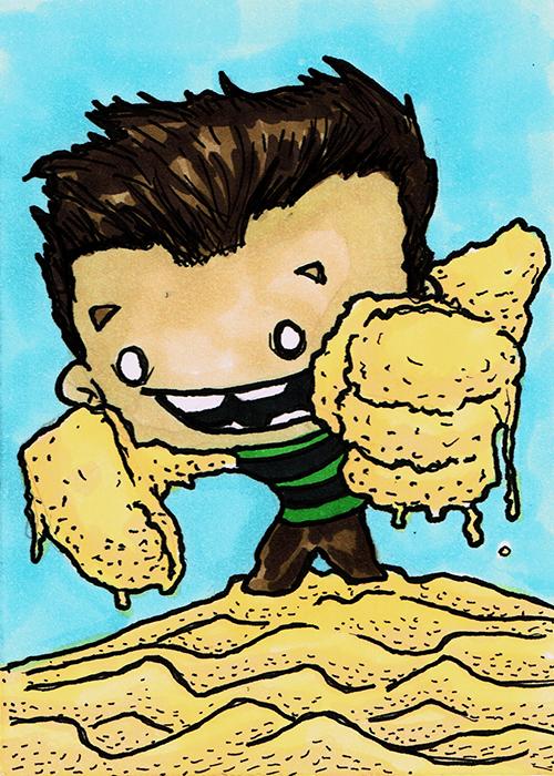 Sandmansketchcard by steviezeeart