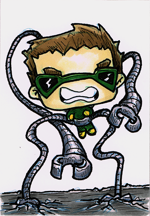 Doctor Octopus Sketch Card by steviezeeart