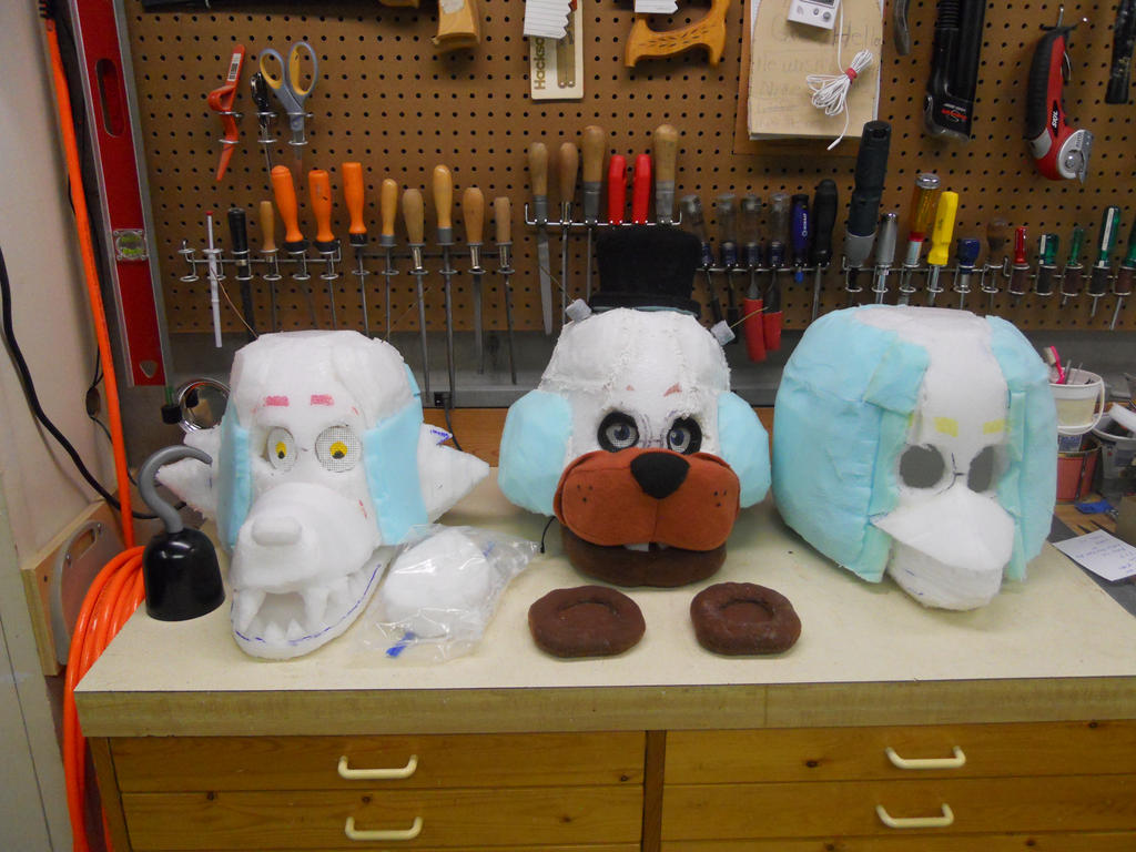 Five nights at freddy s mask wip part 4 by indietimber on deviantart