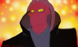 Thrax the Red Death by Hevimell