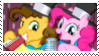 Pinkie Pie And Cheese Sandwich Stamp by MLPfimAndTMNTfan