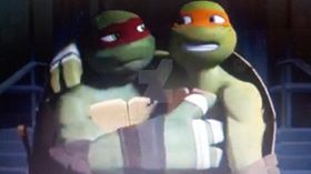Raph Does Care For Mikey! by MLPfimAndTMNTfan