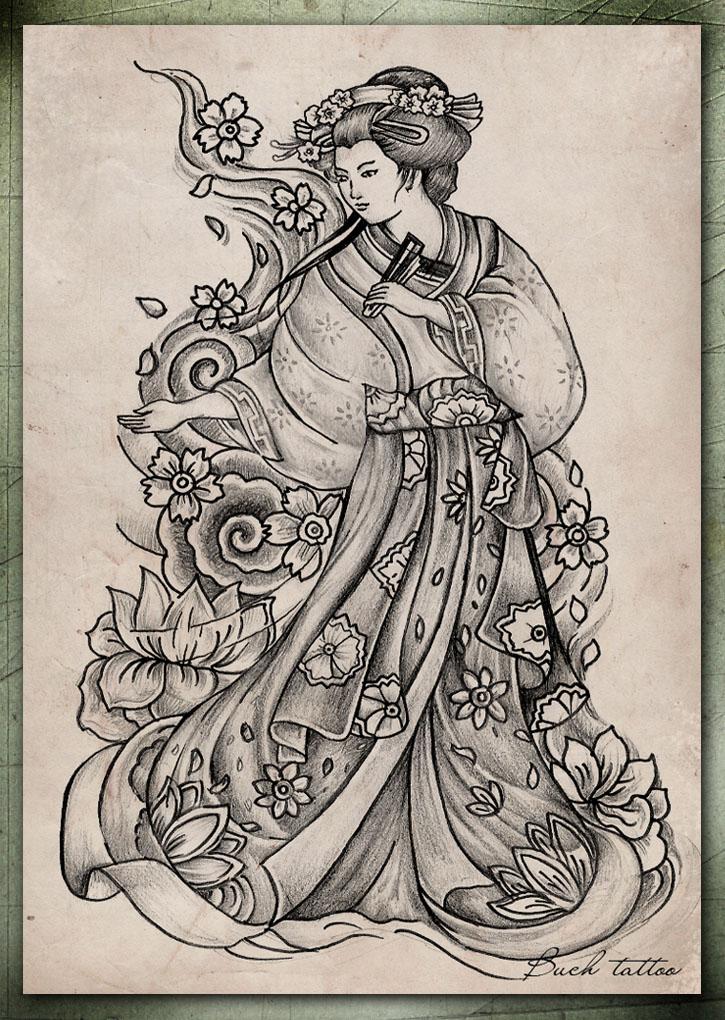 geisha by buchtattoo on DeviantArt
