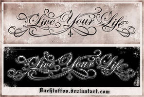 live your life by buchtattoo