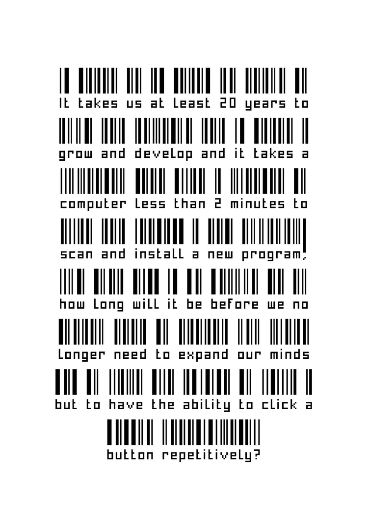 Barcode expand mind quote by haileysthelimit