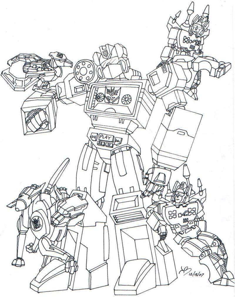 Transformers Coloring Pages Soundwave | Coloring Pages