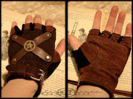Steampunk Sky Pirate Gloves