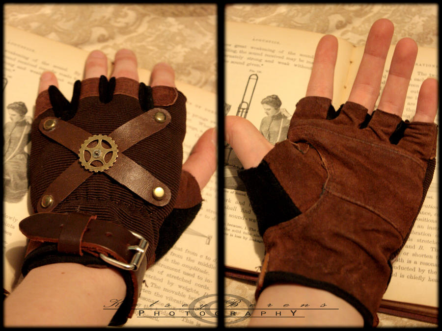 Steampunk Sky Pirate Gloves by kyphoscoliosis