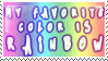 Rainbow Stamp by kyphoscoliosis