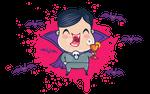Vampire in blood drop by SIR13