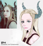 LookAlike - Horned Fairy [Commission] by DzynrChakry