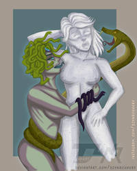 |CM|Duster and Medusa by DzynrChakry