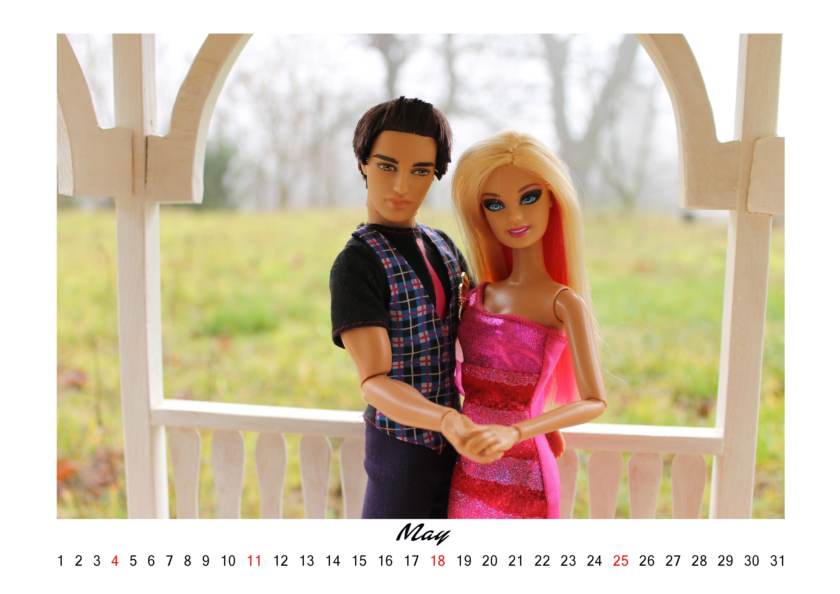 Abby Hooters Calendar May : Calendar for may barbie edition by abby