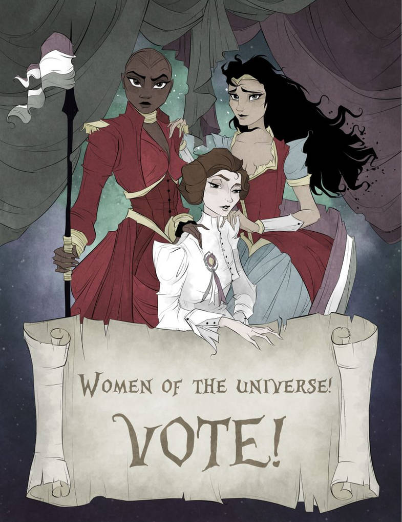 Women Of The Universe, Vote! by DreaDIllustrations