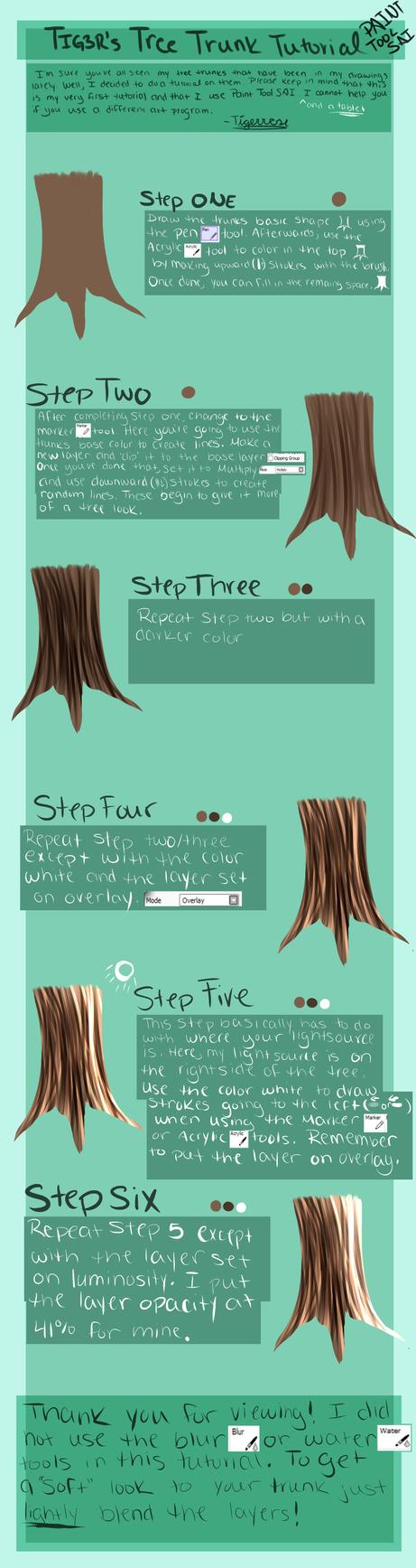 Tree Trunk Tutorial by TIG3RR0S3