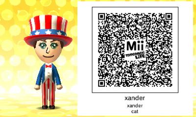 my mii tomodachi life QR code by 01xander