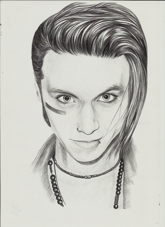 Andy Biersack Drawings Andy biersack by yourblooddayEasy Andy Biersack Drawing