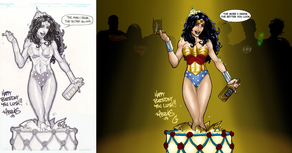 Wonder Woman Surprise Party by ChrisShields