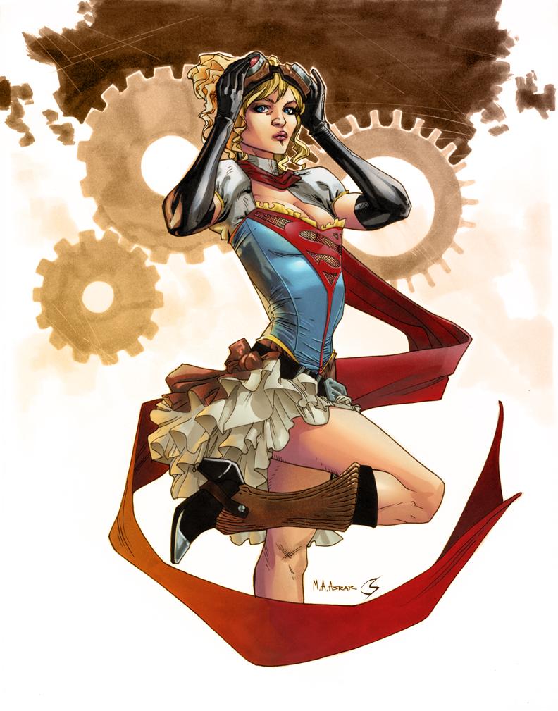 Steampunk Supergirl by ChrisShields
