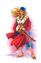 Pirate Supergirl - Copics