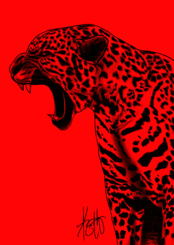 leopard and red wallpaper - photo #25
