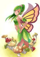 Sketchbook Girl 13 - Fairy 02 by mushi23