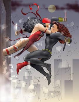 Elektra and Black Widow