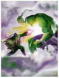 The Mandarin VS The Hulk by gregmcevoy