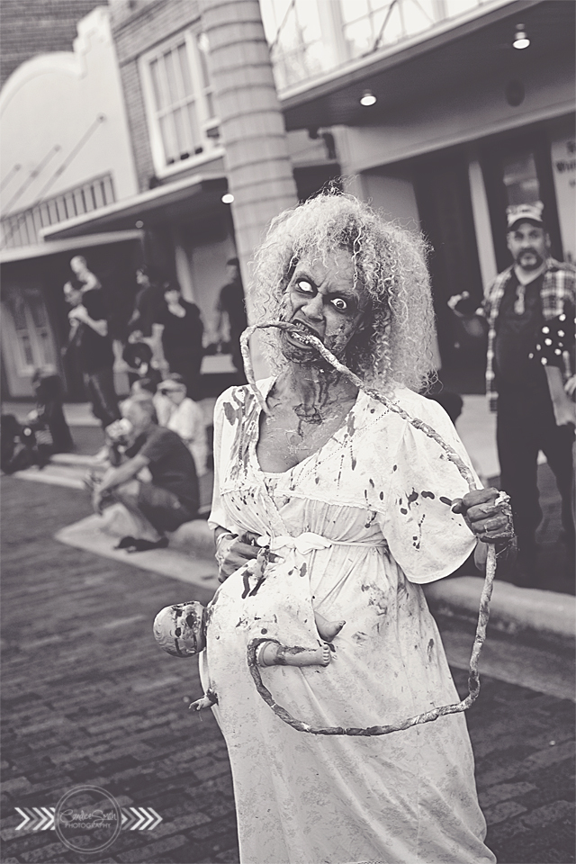 Zombie Mommy BW by CandiceSmithPhoto