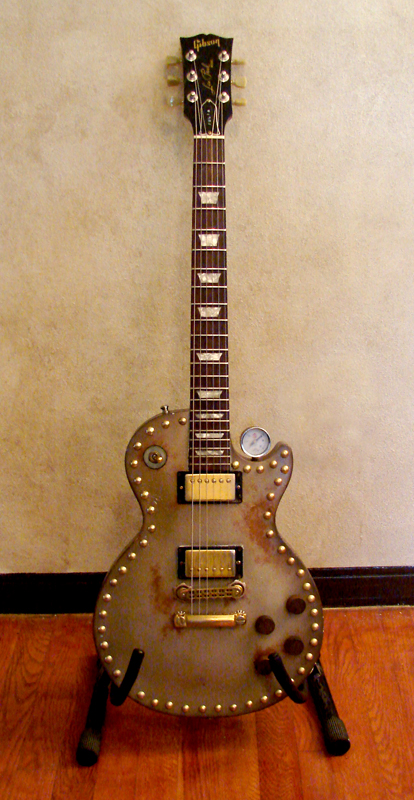 Steampunk Les Paul Guitar by JohnMon
