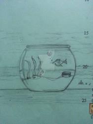 Two Goldfish Drawing
