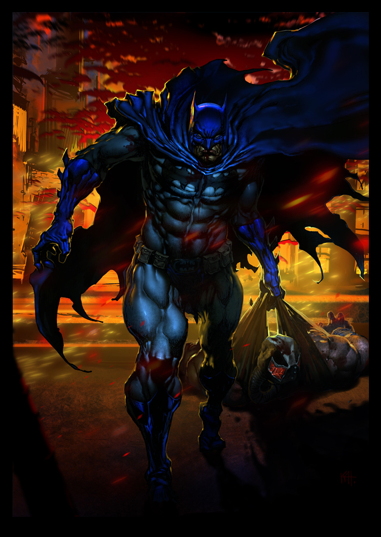 batman vs bane by kanartist