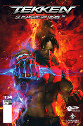 Jin kazama tekken comic cover may2017 by kanartist