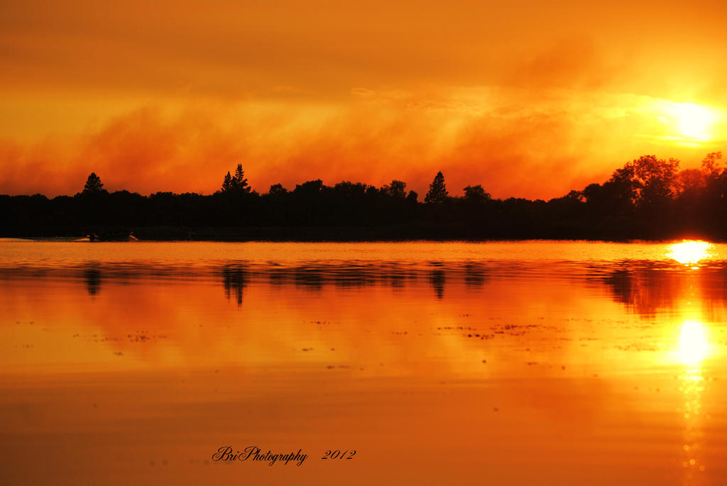 Smoke on the Water Fire in the Sky by PhotographsByBri