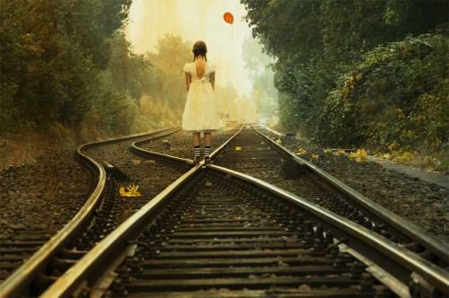 Alone Beside the train