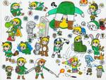 Link Super Mario Powerups