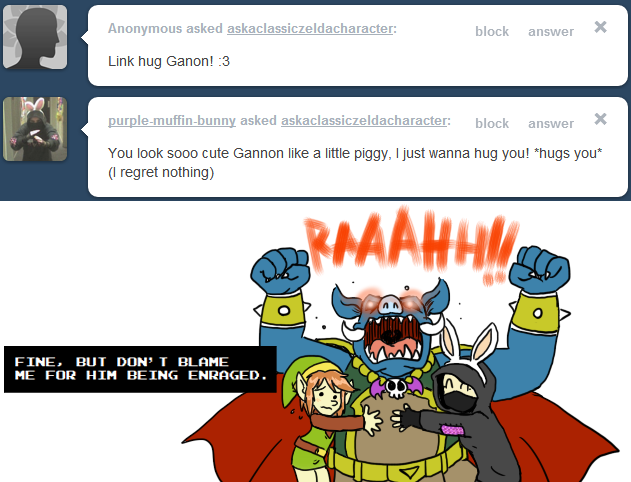 Ask Link - Hug Ganon! by pocket-arsenal