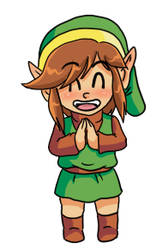 Chibi Link is Happy by pocket-arsenal