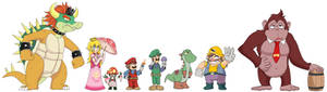 Mario Bros re-designs