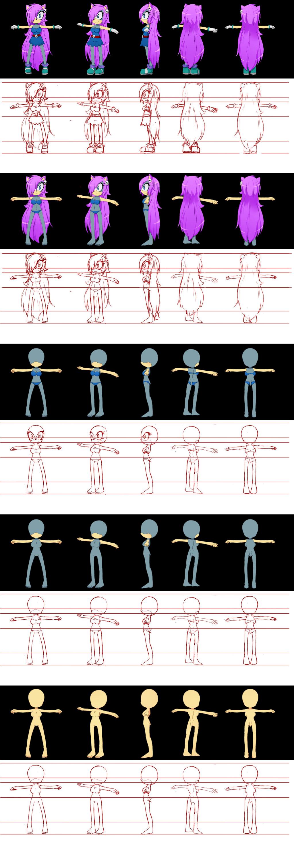 characters model sheet tutorial by klonoafanworkassets on deviantart