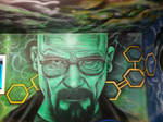 Walter White finished wall mural