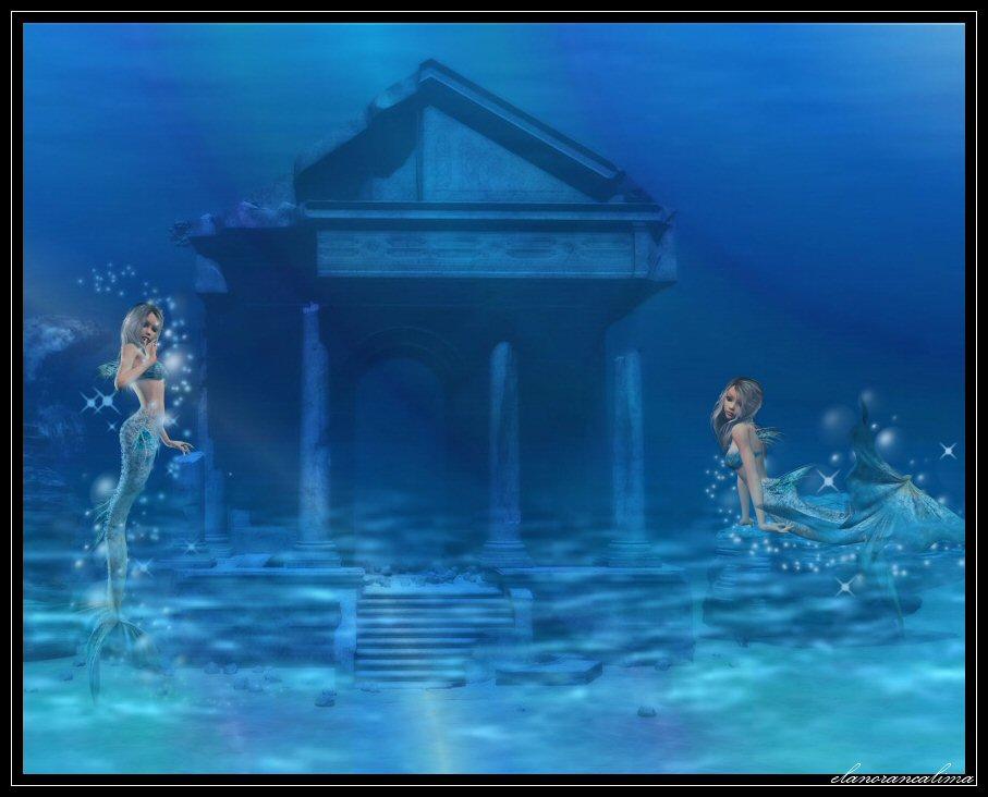 Real Underwater Ruins Underwater Ruins by