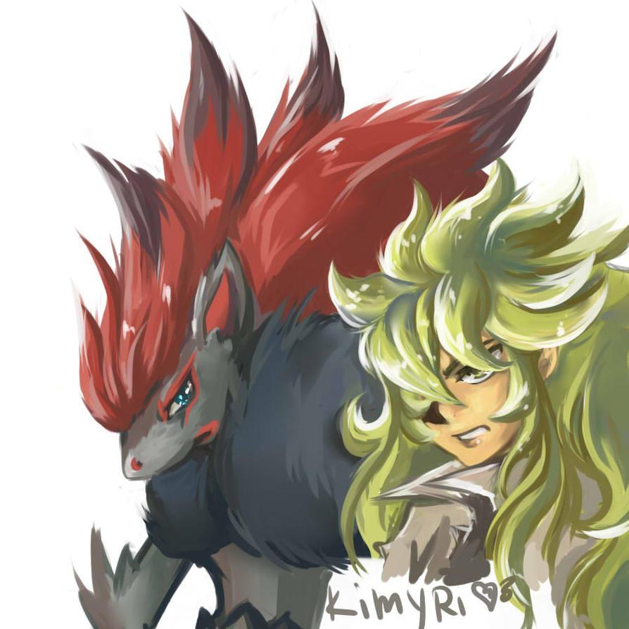 N Zoroark N with Zoroark by Kimy...