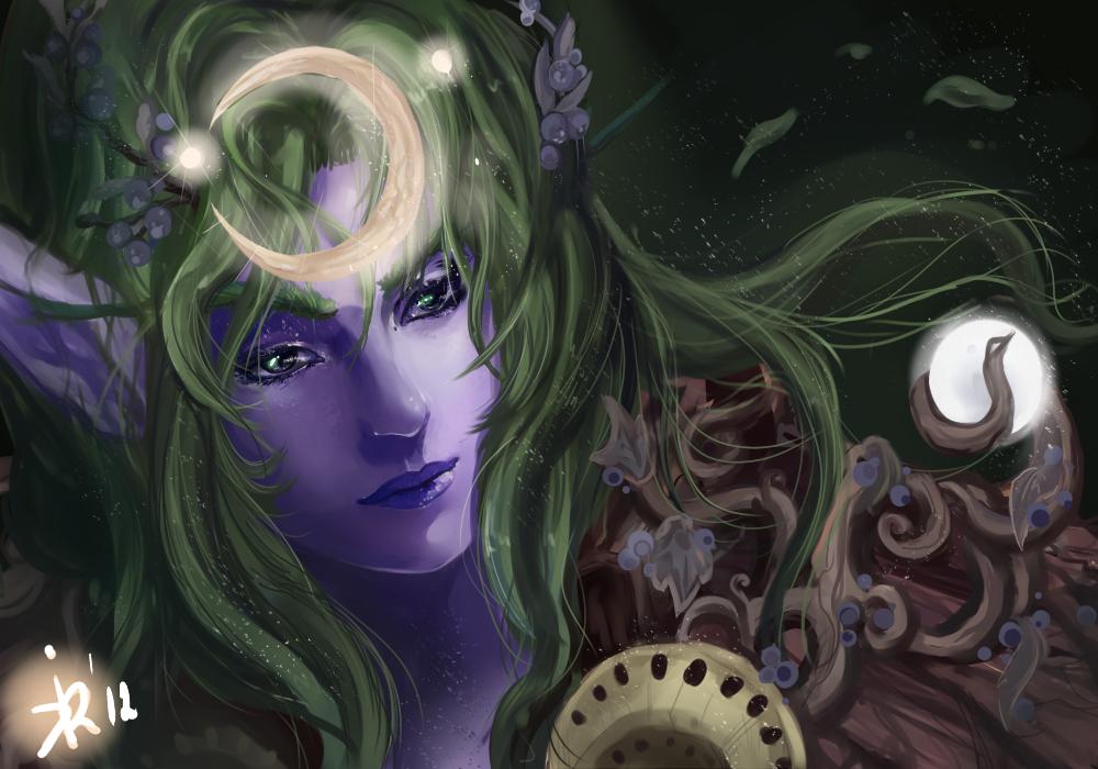 Night elf druid by Kimyri